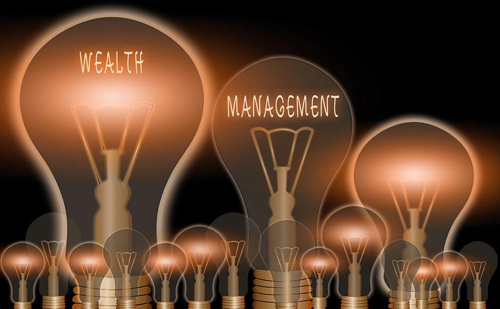 Lightbulbs symbolizing different aspects of estate planning